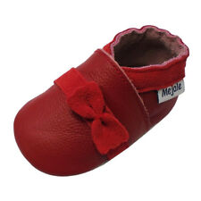 Mejale Baby Girl Shoes Cute Leather Slippers Toddler Moccasins 0-24 Months Red