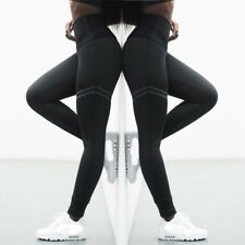 Women Yoga Trousers High Waist Stretch Leggings Fitness Sports Running Gym Pants