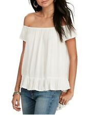 Ralph Lauren  Womens Top Blouse Off the Shoulder Sheer White size XS Small NEW