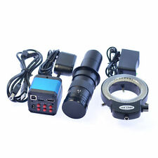 HD 14MP HDMI USB Microscope Camera Max 180X C-mount Zoom Lens Adapter Boom Stand