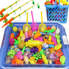 3D Magnetic Fishing Toy Rod Net Set Play Games Child Model Outdoor Inflatable