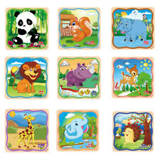 20pcs Funny Wooden Puzzle Educational Developmental Baby Best Training Toy Gift