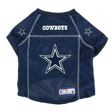 Dallas Cowboys LEP NFL Dog Mesh Jersey Officially Licensed Blue, Sizes XS-XL