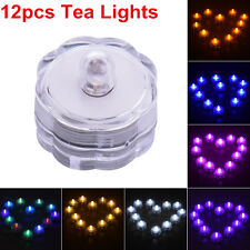12pcs Quincuncial Round LED Candles Tea Light Waterproof Bright Night Light Lamp