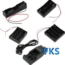 Battery Storage Case Box Holder with Wire Leads / AU DC Charger For 18650 RT