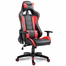 High Back Racing Reclining Gaming Chair Swivel PU Leather Office Office Computer