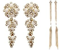 Indian Bollywood Pearls Stones Fashion Dangler Party Earrings For Girls / Women