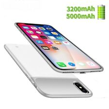 3200/5000mAh Portable Silicone Battery Charger Case With magnetic For iphone X