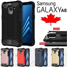 For Samsung Galaxy A8 2018 Shockproof Armour Dual Layer Heavy Duty Case Cover