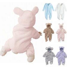 Newborn Baby Hooded Jumpsuit Bodysuit Outfit Clothes Infant Boy Girl Cute Romper