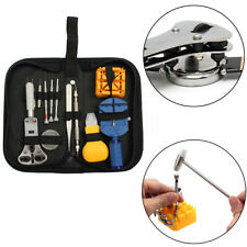 Pro Watch Link Opener Remover Holder Kit Case Set Screwdriver Watch Repair Tool