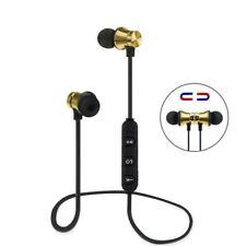 Wireless Bluetooth Headset Earphone In Ear Sweatproof Bass With Mic Audio Sports