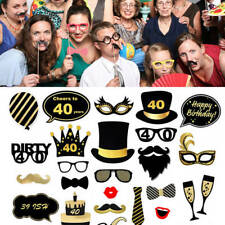35Pcs/Set Happy Birthday Props Party Decor Photo Booth Glitter Selfie Supplies