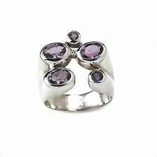 Natural Amethyst Gemstone Ring 925Solid Sterling Silver Handmade Ring Size US9.5