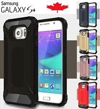 For Samsung Galaxy S6 Dual Layer Shockproof Hybrid Armour Tough Case Cover