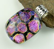 36 pendant options: With cord, in gift box, genuine dichroic glass pendant