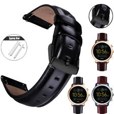 Quick Release Genuine Leather Strap Band For Samsung Galaxy Watch 42mm 46mm
