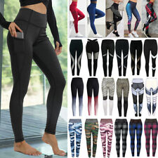 Sport Womens Compression Fitness Leggings Running Yoga Gym Pants Workout Wear