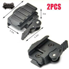 2Pcs Tactical Compact QD Quick Release Picatinny Weaver Rail Rifle Scope Mount