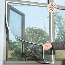 Fly Mosquito Window Net Mesh Screen No Drill Curtains Self Adhesive Insect Nets
