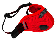 RZ M2.5 DUAL STRAP MESH MASK WITH 2 ACTIVE CARBON FILTER and STORAGE BAG Red