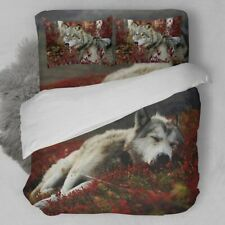 Wolf Bedding 3D Animal Duvet Cover Set Bed Sheet Twin Full Queen King Size 3pcs