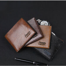 Mens Leather Slim Bifold Credit ID Card Holder Wallet Billfold Purse Clutch Thin