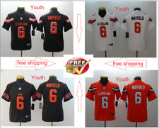 2019 Youth Cleveland Browns Jersey 6 Baker Mayfield football Stitched FREE SIPP