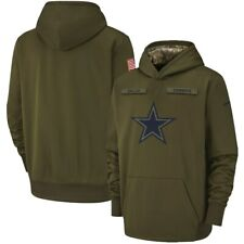 Dallas Sweatshirt Cowboys Hoodie 2019 Olive Salute to Service Sideline Pullover