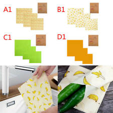 3x Beeswax Food Wraps Food Covers Reusable Eco-Friendly Wash Wrap Stretc BIL