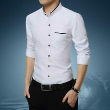 Luxury Fashion Shirt Stylish Slim Fit Business Casual Dress Shirts Tops Tee