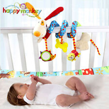 Baby Plush Rattle Crib Spiral Hanging Mobile Infant Stroller Bed Animal Toys