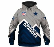 Dallas Cowboys Hoodie Hooded Jacket Sweater Pullover Jersey Football For NFL