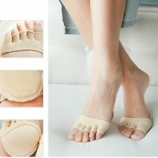 Women Open Toe Heelless Invisible Socks Anti-slip Sponge Silicone Forefoot Socks