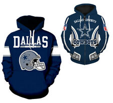 Dallas Cowboys Hoodie Hooded Jacket Sweater Pullover Jersey Football New NFL
