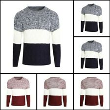 Knitwear O Neck Casual Jumper Sweater Knit Mens Warm Pullover Winter Blouse Tops