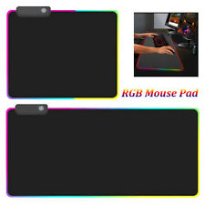 USB Extended Keyboard Mice Mat LED RGB Gaming Mouse Pad Luminous For PC Laptop