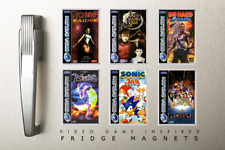 FRIDGE MAGNET - Sega Saturn Collection - Sonic, Nights, Virtua Fighter + MORE