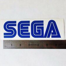 SEGA Vinyl DECAL STICKER BLK/WHT/RED Logo Window Genesis Sonic Knuckles Saturn