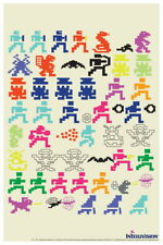 101405 Intellivision Game Characters Sprites Gaming Decor LAMINATED POSTER DE