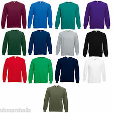 FRUIT OF THE LOOM SWEATSHIRT JUMPER 11 COLS S-XXL BN