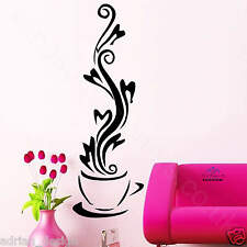 CUP OF COFFEE wall art STICKER MURAL DECOR kitchen