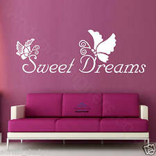 SWEET DREAMS wall ART BEDROOM sticker DECOR QUOTE be3
