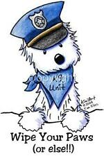 Westie Cop Dog Tshirts or Nightshirt 7525 kiniart pet art