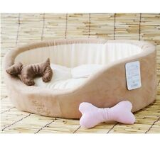 Pet Dog Cat Soft Bed House +dog toy Brown/Pink S,M,L