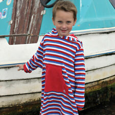 Boys Kids Childrens Striped Mitty James Beach Towelling Hooded Top Gown Robe