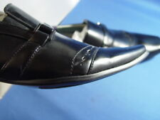 "NIB OTTO ""BELT LOAFERS"" ITALIAN STYLE DRESS SHOES BLACK"