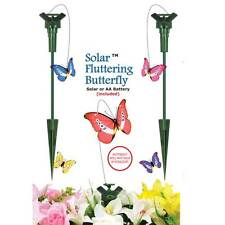 NEW IN BOX SOLAR POWERED FLYING FLUTTERING BUTTERFLY