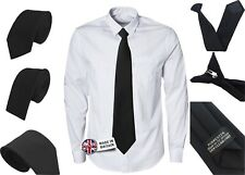 Black Funeral Ties Mens Adult Child Boys Tie