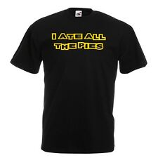 I ATE ALL THE PIES Black Standard T-Shirt Funny Fat